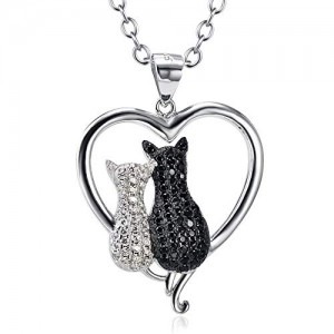 Sterling Silver 925 Cubic Cat jewelry Pendant Necklace