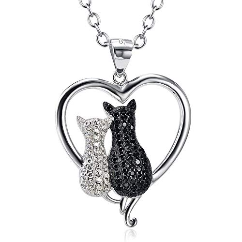Sterling Silver 925 Cubic Cat jewelry Pendant Necklace Featured Image