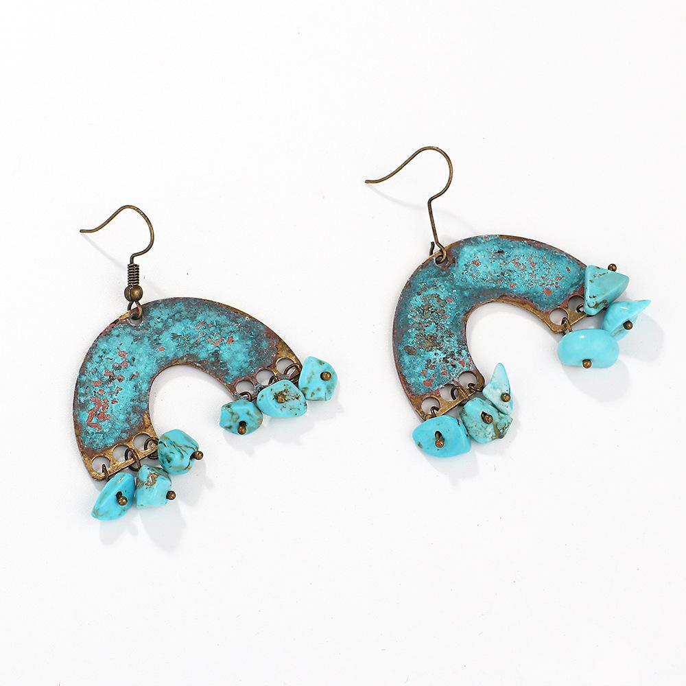 Wholesale-Personality-Metal-Distressed-Stud-Earrings-Geometric (1)