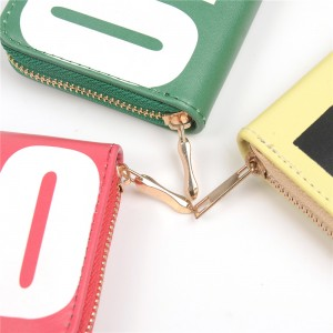 WENZHE Ladies Letters Square Coin Purse Keychain Bag