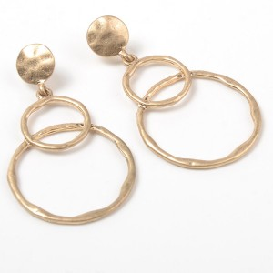 2019 New Fashion Women Earrings Gold Plated Circles Round Drop Earring
