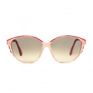 pink vintage sunglasses – striped transparent sunglasses for women – original 1980s large womens sun glasses
