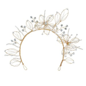 WENZHE Handmade Wedding crystal Headband star hair band crystal tiara