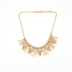 WENZHE Gold Alloy Arrow Tassel Pendant Necklace