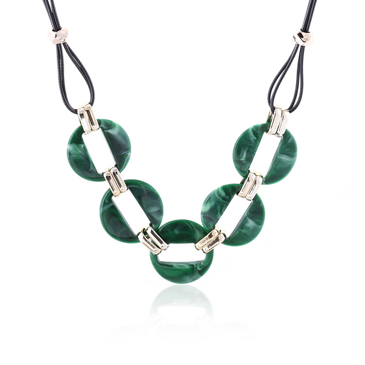 Fashion-colorful-acrylic-pendant-necklace-wax-line (3)
