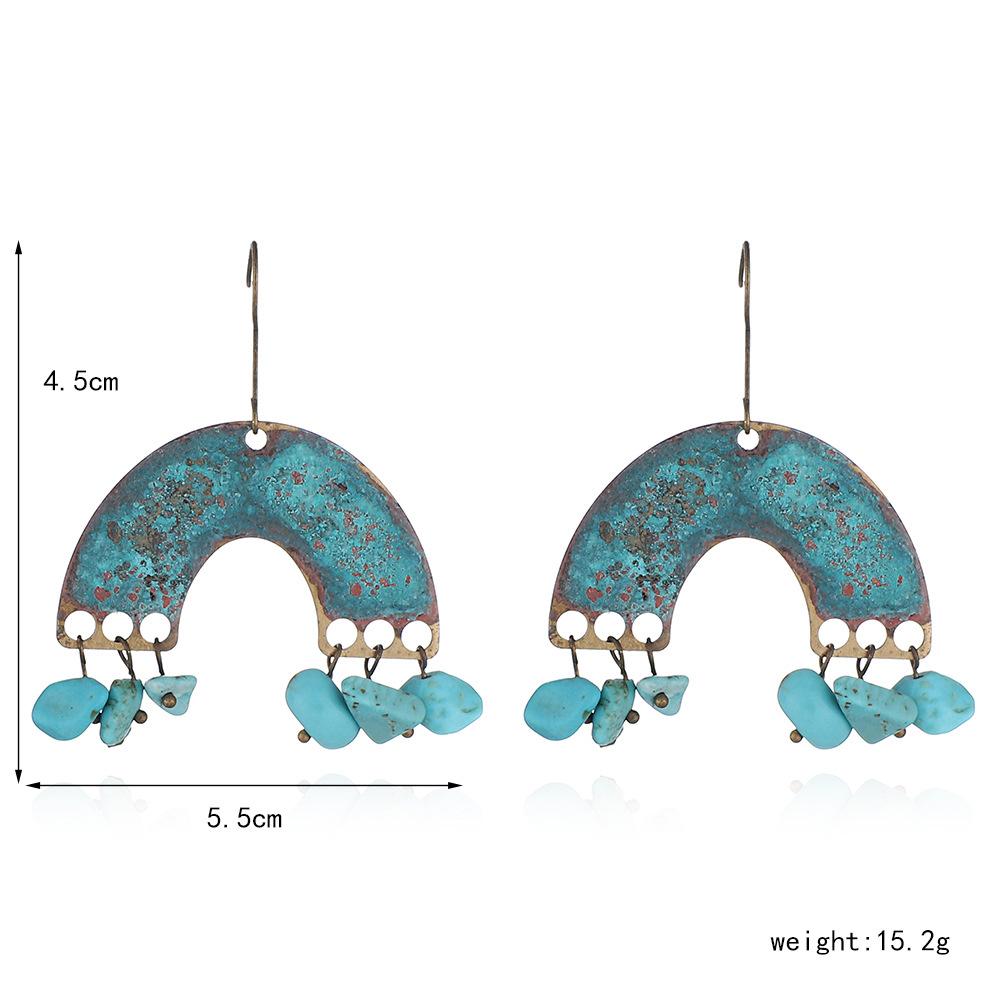 Wholesale-Personality-Metal-Distressed-Stud-Earrings-Geometric