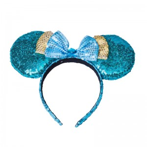 WENZHE Factory Supplier Ears Of Mouse With Bowknot Decoration Headband Hairband
