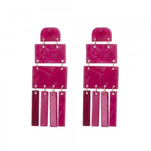Wholesale Fashion Big Statement Dangle Irregular Geometric Acrylic Drop Earrings