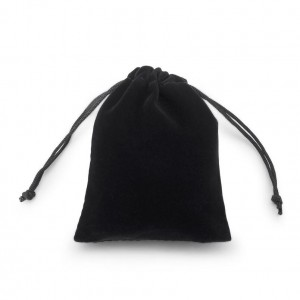 Black drawstring packaging gift bags velvet jewelry bag jewellery pouches