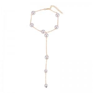 Pearl Tassel Necklace Personality Wild Choker