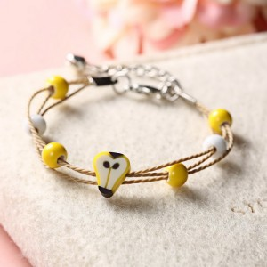 Wholesale fashion jewelry cute fruit bracelet female couple sister bracelet