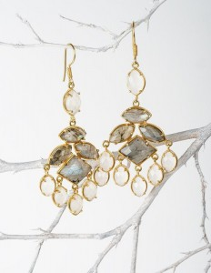 Smoky Grey Chandelier. Chalcedony earrings.Smokey Cluster.Labrodorite Earrings.Fall Earrings.