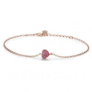 Rose Gold Plated Jewelry Heart Adjustable Bangle Bracelet for Girls
