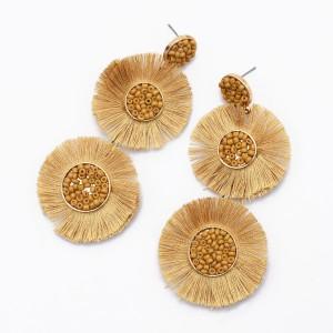 Wholesale Handmade New Trend Statement Tassel Drop Seed Beads Earring