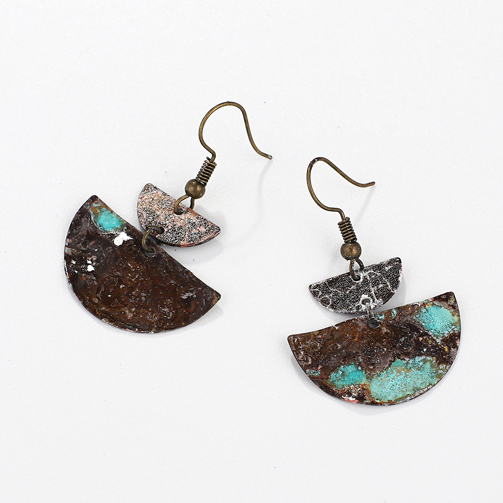 Silver-Tone-Mixed-Patina-Geometric-Half-Moon