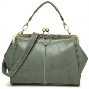 WENZHE Trendy Women Bag Vintage PU Shoulder Handbag For Lady