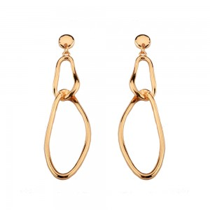 Fashion gold jhumka earrings design circle statement womens earrings