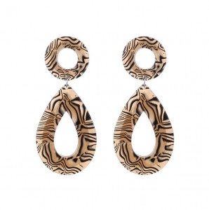 New Fashion Design Jewelry Geometry Shape Sexy Leopard Acrylic Teardrop Earring