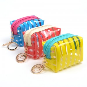 WENZHE Custom PVC Material Women Key Ring Coin Purses