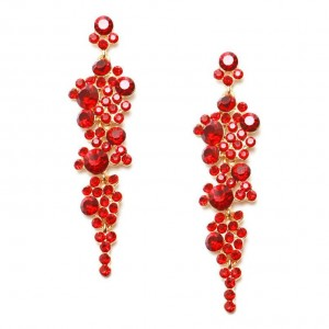 Manufacturers selling women crystal boutique earrings bride accessories