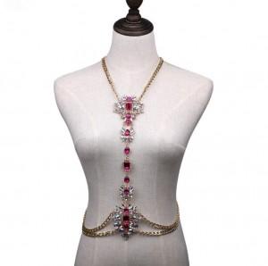 Trendy Women Bra Body Jewelry Handmade Sexy Crystal Tassel Body Chain