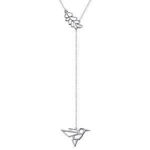 Fashionable Jewelry Long Chain 925 Sterling Silver Lariat Necklace