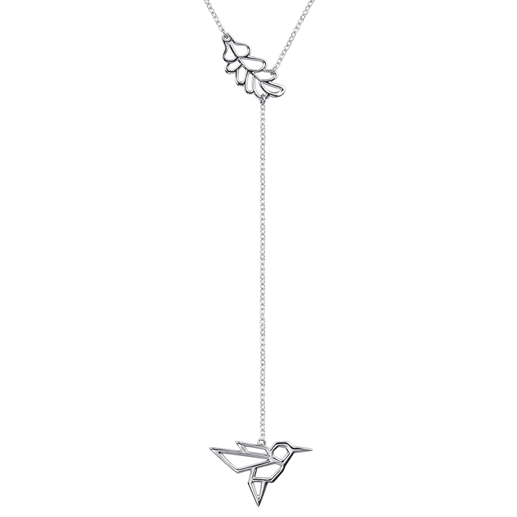Fashionable Jewelry Long Chain 925 Sterling Silver Lariat Necklace Featured Image