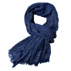 WENZHE New European and American Solid Color Men's Tassel Scarf
