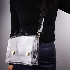 Clear Messenger Bag Ladies Shoulder Bag PVC Tote Bag