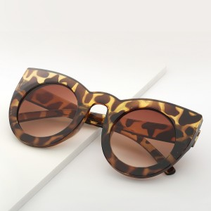 WENZHE Fashion Tortoise Acrylic Frame Ladies Custom Sunglass