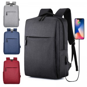 Backpack cross-border USB backpack simple business casual backpack female male computer bag