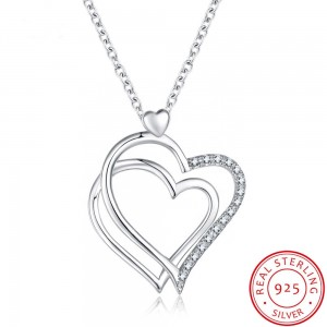 S925 silver necklace female European and American love pendant necklace