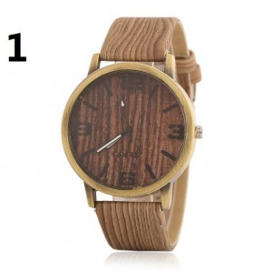 Custom quartz watches wholesale imitation wood grain wrist watch