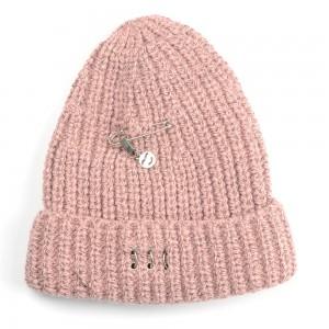 WENZHE Plain Beanie Knit Cap Warm Winter Custom Pin Smiley Face Beanie Hat