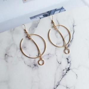 Modern jewelry fashion delicate metal geometry circle earring accessories women