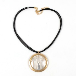 WENZHE Gold Reindeer Pendant Multi-layer Necklace
