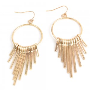 WENZHE Metal Fashion Tassel Earrings