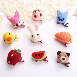 Handmade Cute Carton Animal DIY Hair Clip For Children