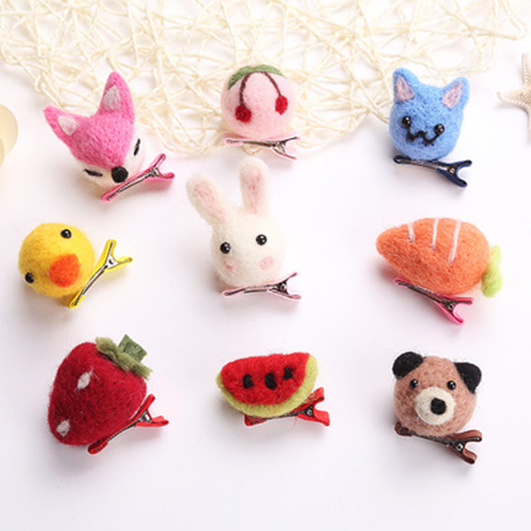 Handmade Cute Carton Animal DIY Hair Clip For Children Featured Image