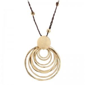 Popular Design Metal Disc Necklace Accessories Necklace