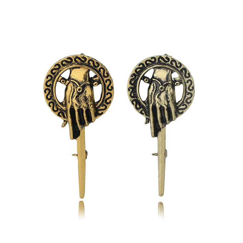 Popular Movie Game Of Thrones Gold Alloy Sceptre Brooch Featured Image