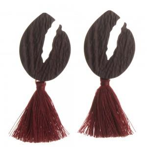 WENZHE New Hot National Wind Female Geometric Alloy Long Tassel Earrings