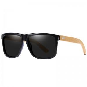 WENZHE Hot Sale Custom Fashion Polarized Wooden Bamboo Sunglasses For Unisex