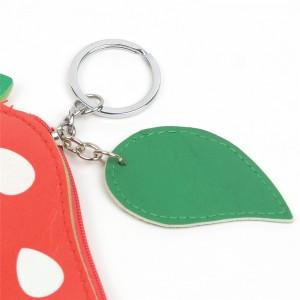 WENZHE Cartoon Fruit PU Pouch Keychain Women Wallet Coin Bag