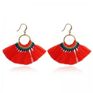 Wholesale Hot Selling Boho Hoop Tassel Earrings For Women Jewellery