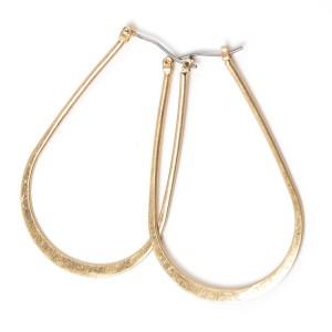 Latest Arrival Gold U Shape Hoop Earring For Women