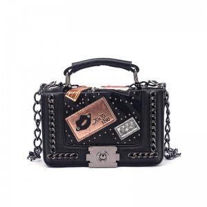 WENZHE Beach Summer Holiday Fashion Women PU Leather Shoulder Bags With Chain Ladies Handbag