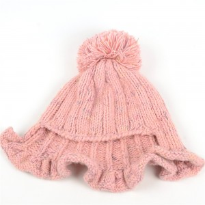 WENZHE New Arrivals Women Warm Solid Color Hats Custom Winter Wool Hat