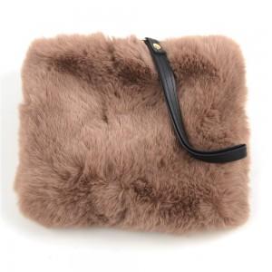 WENZHE Fashion New Design Multicolor Soft Fur Mini Handbag for Elegant Lady