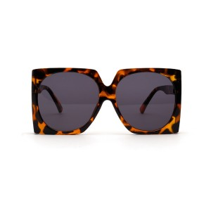 WENZHE New Arrival Fashion Square Shaped Frames Oversized Leopard Women Sunglasses